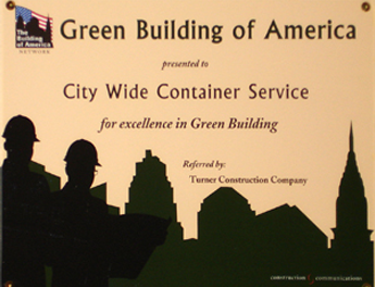 Green Building of America Certificate